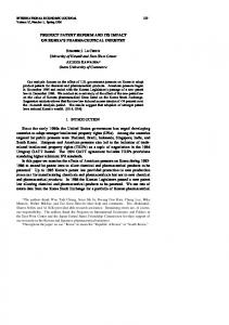 PRODUCT PATENT REFORM AND ITS IMPACT ON ... - CiteSeerX