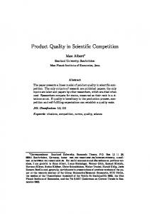 Product Quality in Scientific Competition