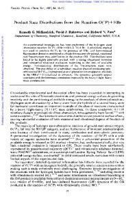 Product State Distributions from the Reaction O ... - Stanford University