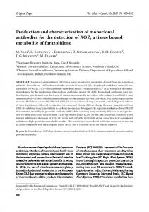 Production and characterisation of monoclonal antibodies for the ...