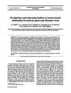 Production and characterisation of monoclonal antibodies to salmon