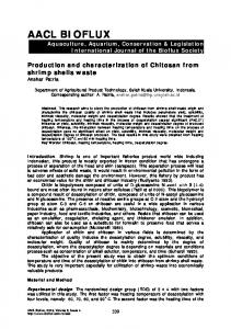 Production and characterization of Chitosan from shrimp shells waste