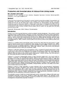 Production and characterization of chitosan from