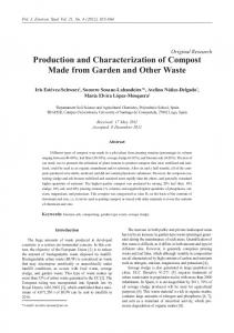 Production and Characterization of Compost Made from Garden and ...