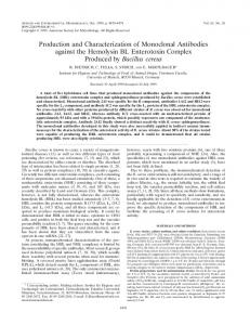 Production and Characterization of Monoclonal Antibodies against the ...