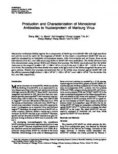 Production and Characterization of Monoclonal Antibodies to ...