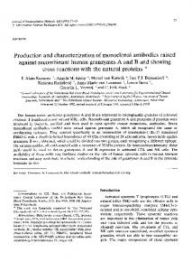 Production and characterization of monoclonal antibodies ... - Core