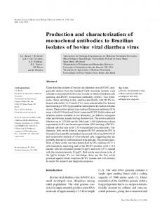 Production and characterization of monoclonal