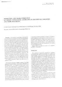 production and characterization of murine monoclonal antibodies