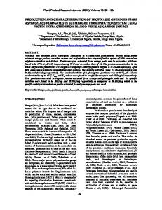 PRODUCTION AND CHARACTERIZATION OF PECTINASES ...