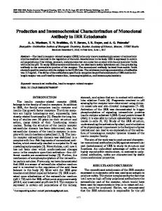 Production and Immunochemical Characterization of ... - Springer Link