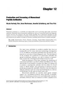 Production and Screening of Monoclonal Peptide Antibodies
