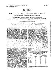 Production by Pseudomonas aeruginosa - Journal of Clinical ...