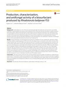 Production, characterization, and antifungal activity