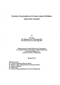 Production, Characterization and Corrosion Analysis