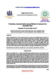 Production, characterization and purification of tannase ... - iMedPub