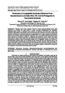 Production of Amphiphilic Surfactant Molecule From ... - IJPSI