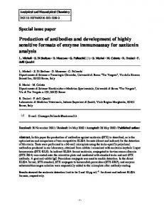 Production of antibodies and development of highly ... - Tor Vergata