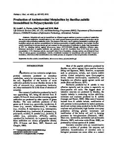 Production of Antimicrobial Metabolites by Bacillus subtilis ...