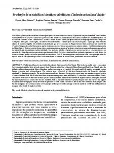 Production of bioactive metabolites from lichen Cladonia substellata ...