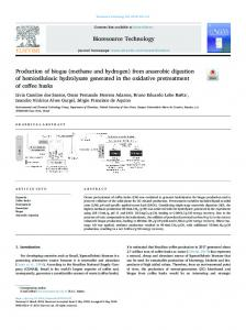 Production of biogas (methane and hydrogen) from