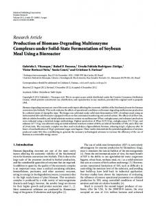 Production of Biomass-Degrading Multienzyme Complexes under