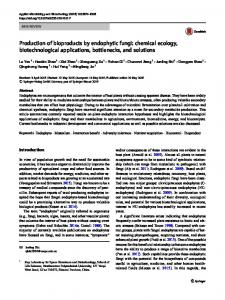 Production of bioproducts by endophytic fungi