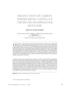 production of carbon fibers from castilla's crude-oil ... - SciELO Colombia