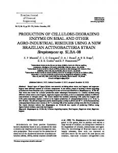 production of cellulose-degrading enzyme on sisal and other ... - SciELO