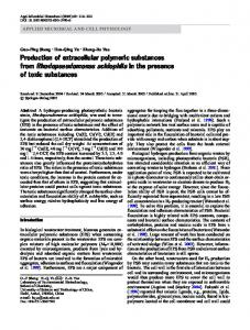 Production of extracellular polymeric substances from ... - Springer Link