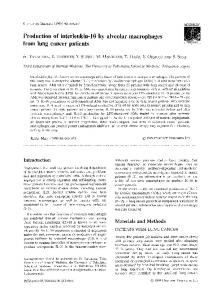 Production of interleukin-10 by alveolar macrophages from lung ...