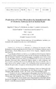 Production of Lichen Metabolites by Immobilized Cells of ... - Zobodat