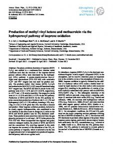Production of methyl vinyl ketone and ... - Atmos. Chem. Phys