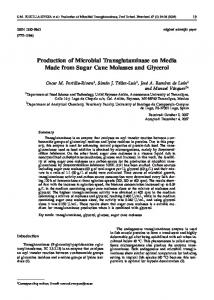 Production of Microbial Transglutaminase on ... - Semantic Scholar