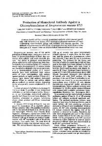 Production of Monoclonal Antibody Against a Glucosyltransferase of ...