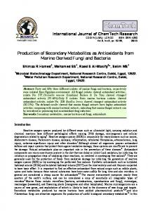 Production of Secondary Metabolites as Antioxidants from Marine ...