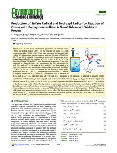 Production of Sulfate Radical and Hydroxyl Radical by Reaction of ...