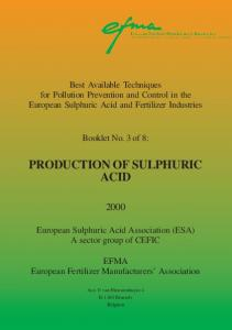 production of sulphuric acid - European Fertilizer Manufacturers ...