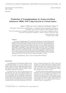 Production of Transglutaminase by ... - Semantic Scholar