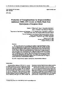 Production of Transglutaminase by Streptoverticillium ladakanum ...