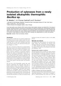Production of xylanases from a newly isolated ... - Springer Link