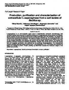 Production, purification and characterisation of ... - Academic Journals