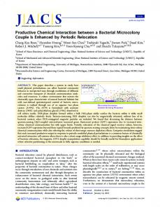 Productive Chemical Interaction between a Bacterial Microcolony ...