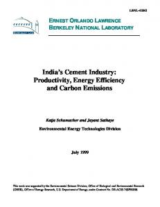 Productivity, Energy Efficiency and Carbon Emissions