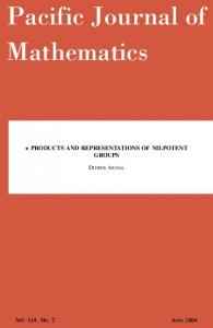 products and representations of nilpotent groups - Mathematical ...