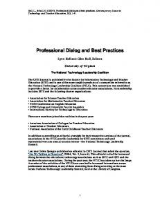 Professional Dialog and Best Practices - LearnTechLib