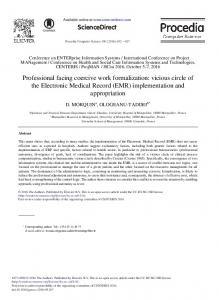 Professional Facing Coercive Work Formalization: Vicious Circle of the ...