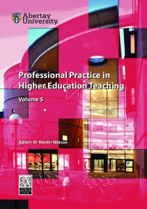 Professional Practice in Higher Education Teaching ...