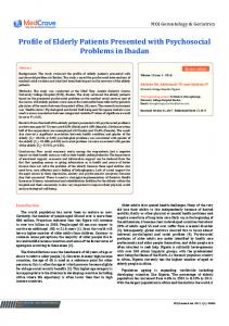 Profile of Elderly Patients Presented with ...