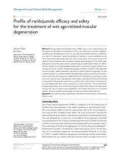 Profile of ranibizumab: efficacy and safety for the treatment ... - CiteSeerX